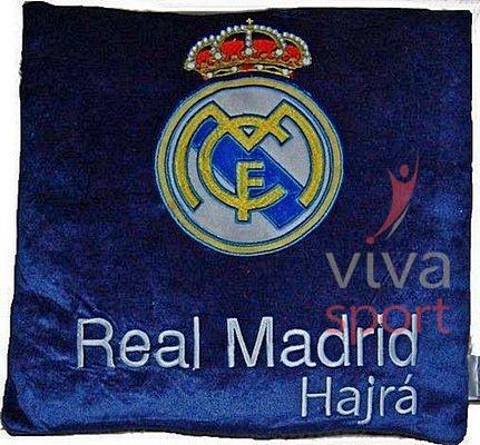 Real Madrid párna kék (címer, RM Hajrá)