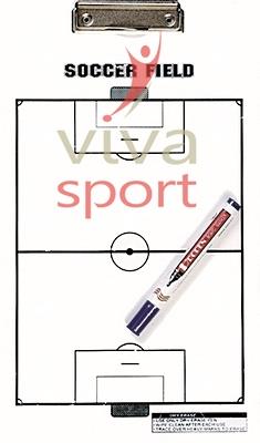 Edzői tábla futball fehér 40x23