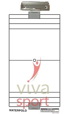Edzői tábla vízilabda fehér 40x23