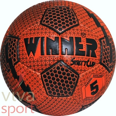 Winner Street Cup futball-labda, narancssárga-fekete